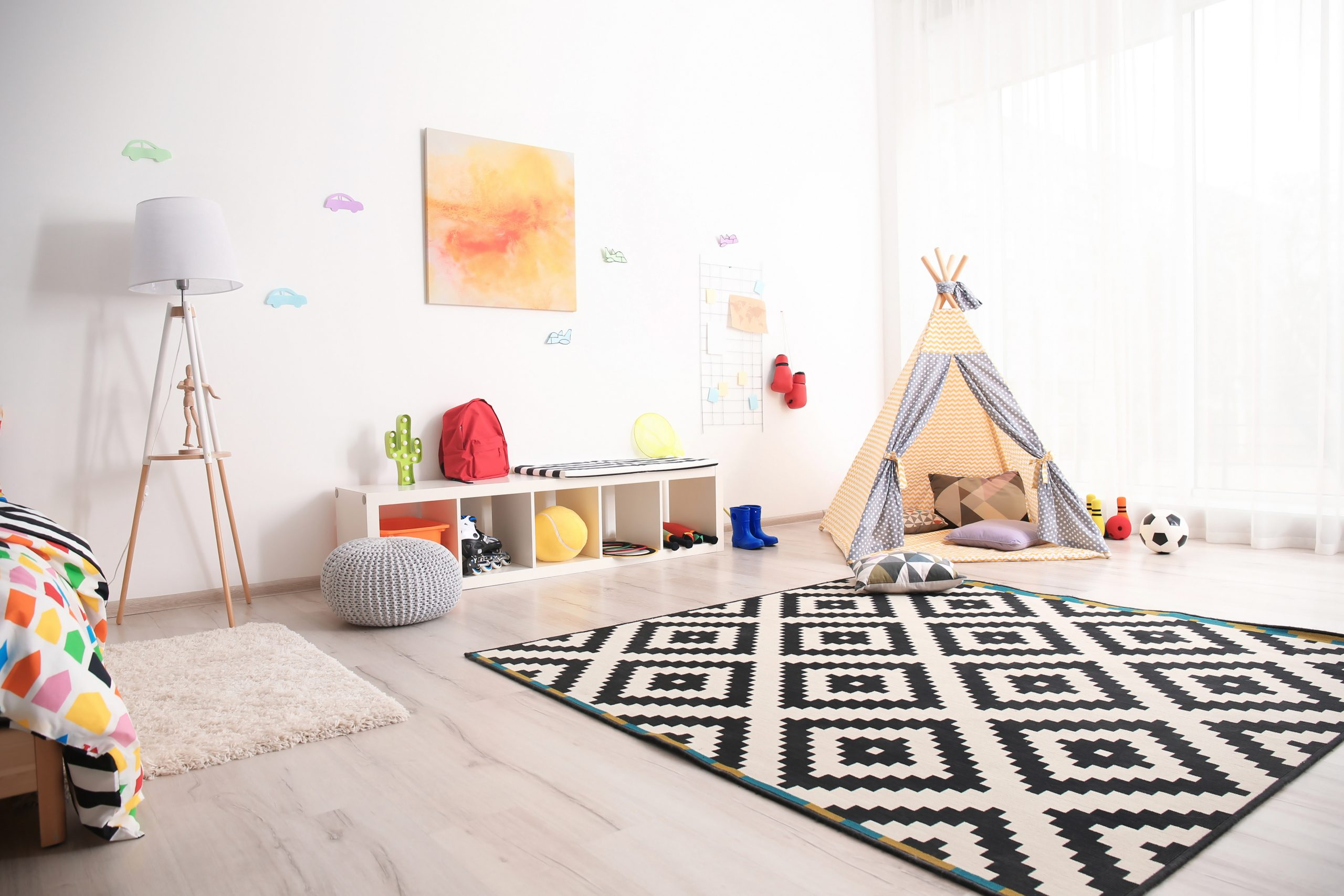 Modern room interior for child